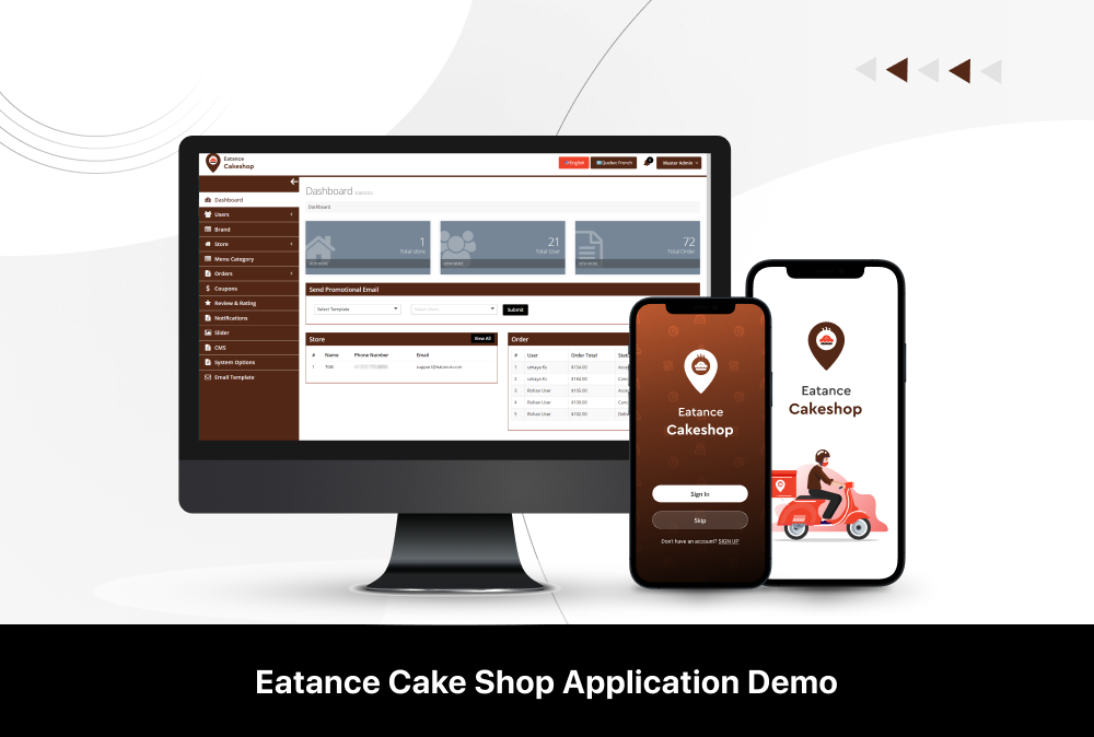 eatance cakeshop demo
