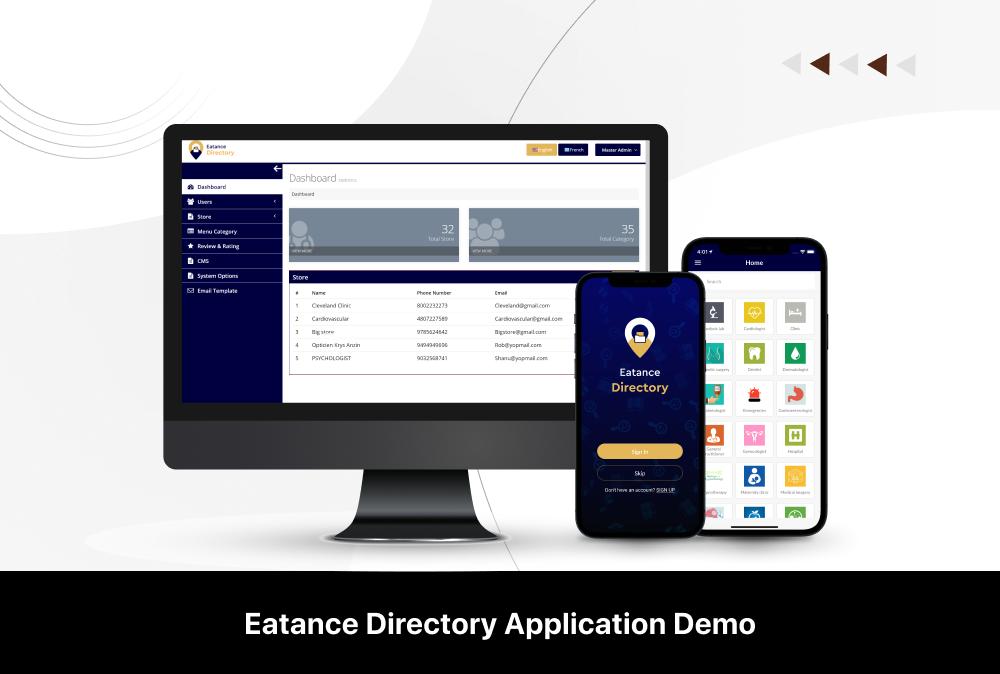 eatance directory app demo