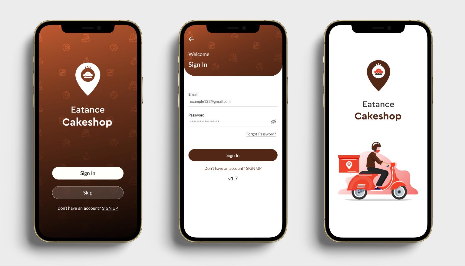 Eatance Cakeshop App