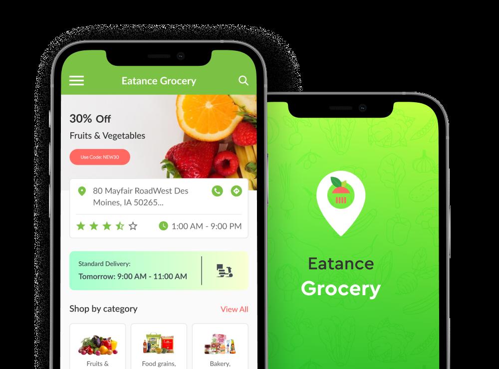 grocery app screen
