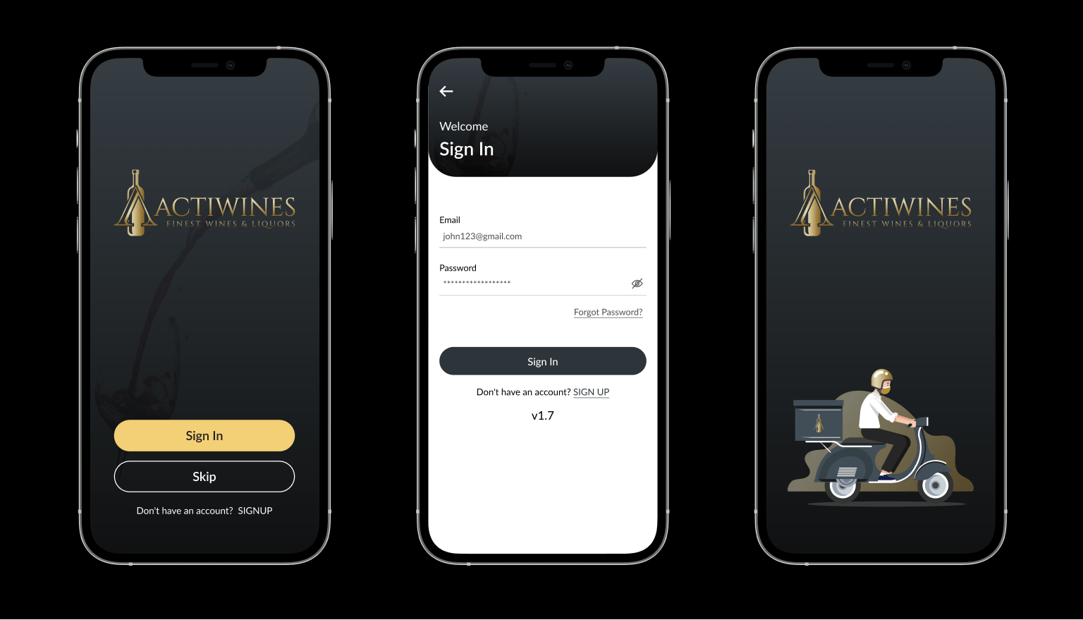 Liquor App for Client