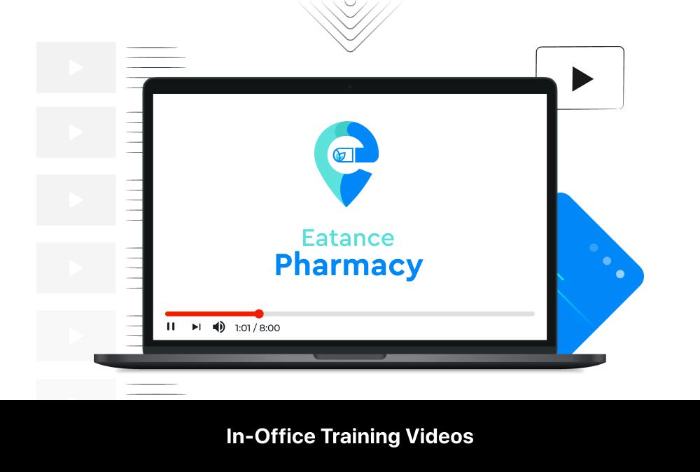 eatance pharmacy app in-office training videos