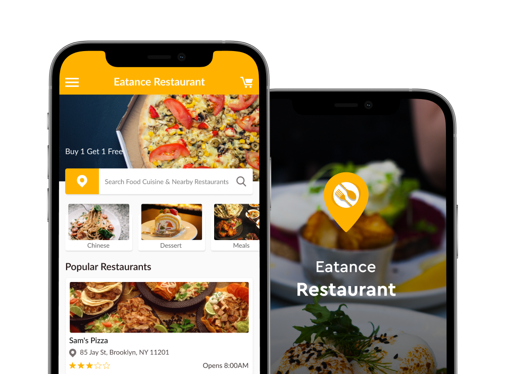 menu in restaurant app