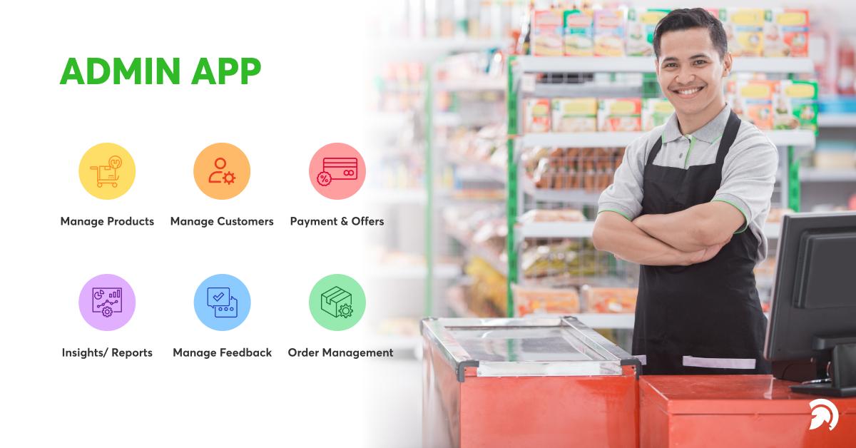grocery admin app