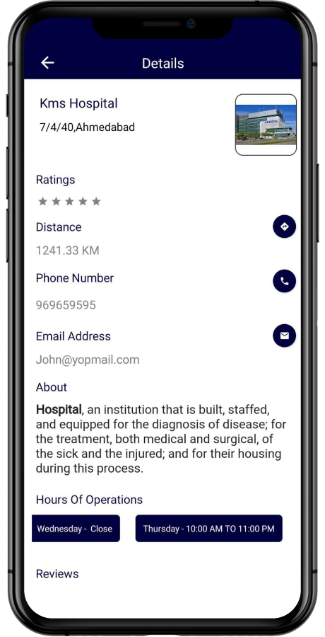 hospital in the directory app