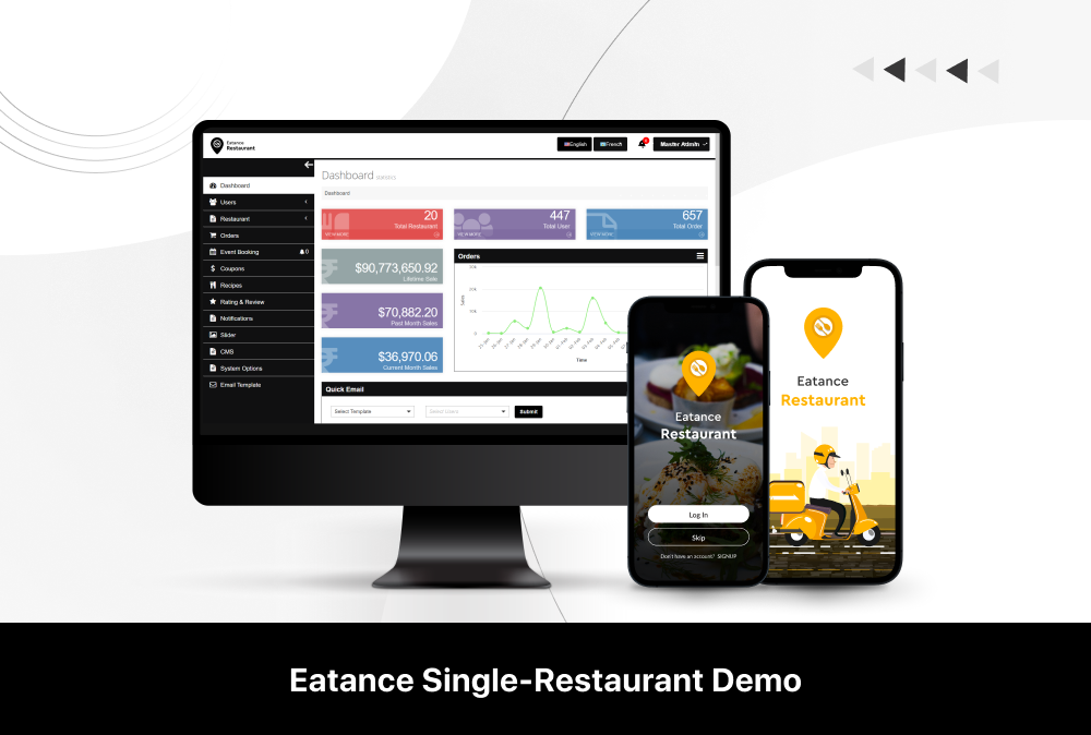eatance single restaurant app demo