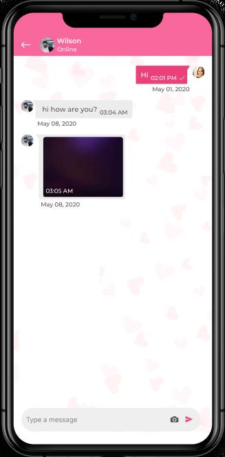 online dating mobile app screenshot