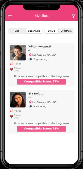 dating app screenshot