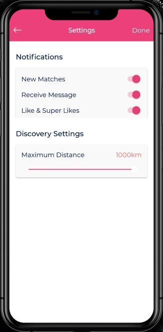 online dating app screenshot