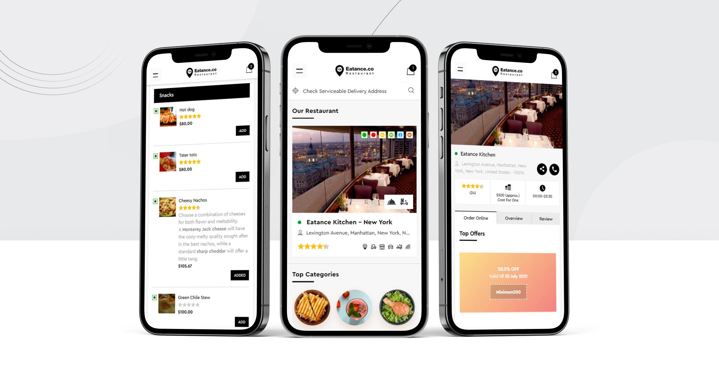 Free food ordering app
